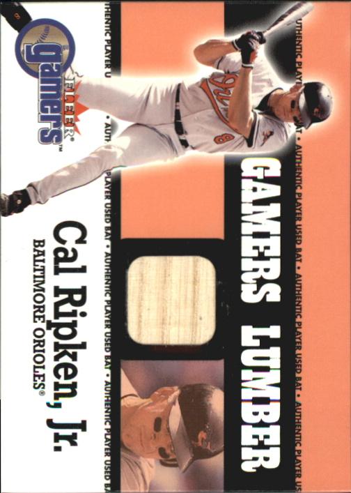 2000 Fleer Gamers Lumber #37 Cal Ripken
