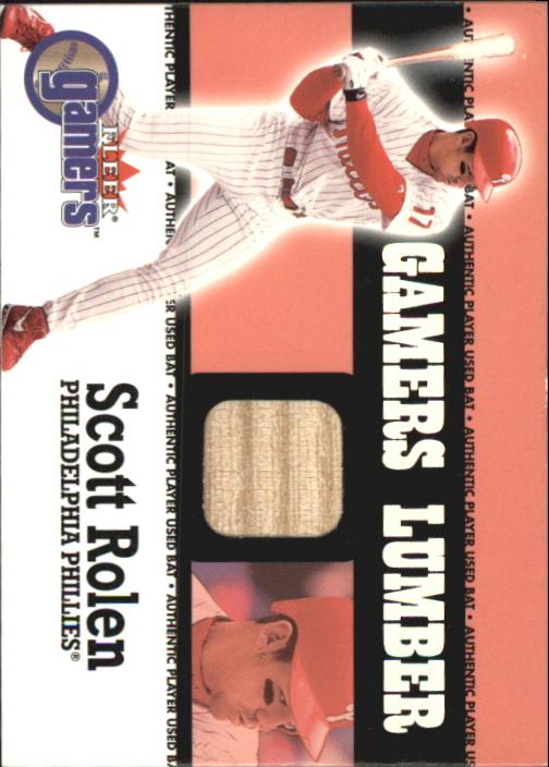 2000 Fleer Gamers Lumber #40 Scott Rolen