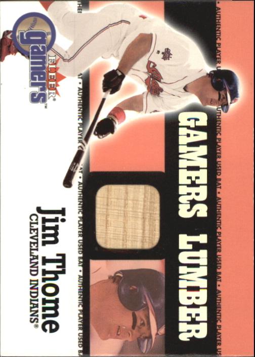 2000 Fleer Gamers Lumber #44 Jim Thome