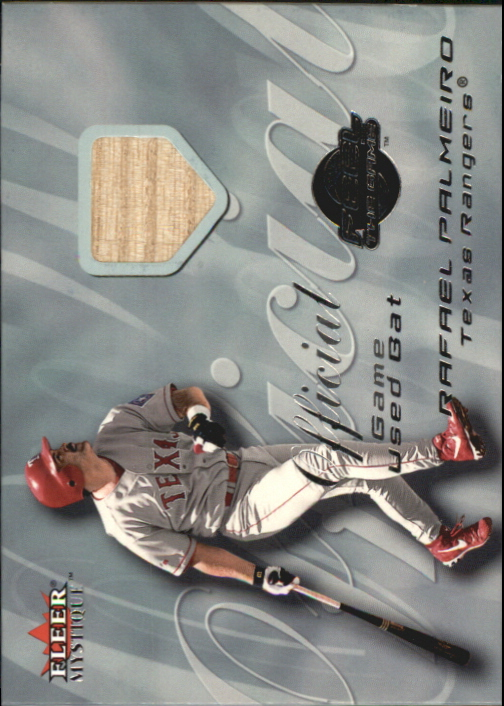 2000 Fleer Mystique Feel the Game #10 Rafael Palmeiro Bat