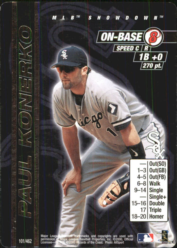 2000 MLB Showdown Unlimited #101 Paul Konerko