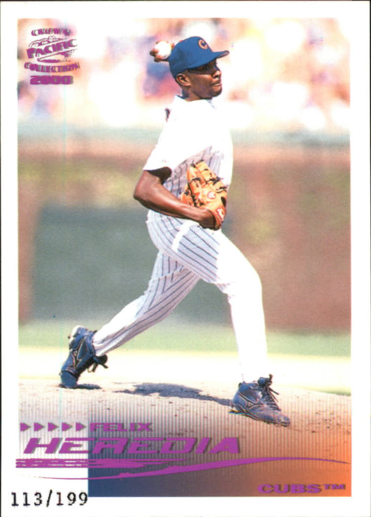 2000 Pacific Crown Collection Holographic Purple #49 Felix Heredia