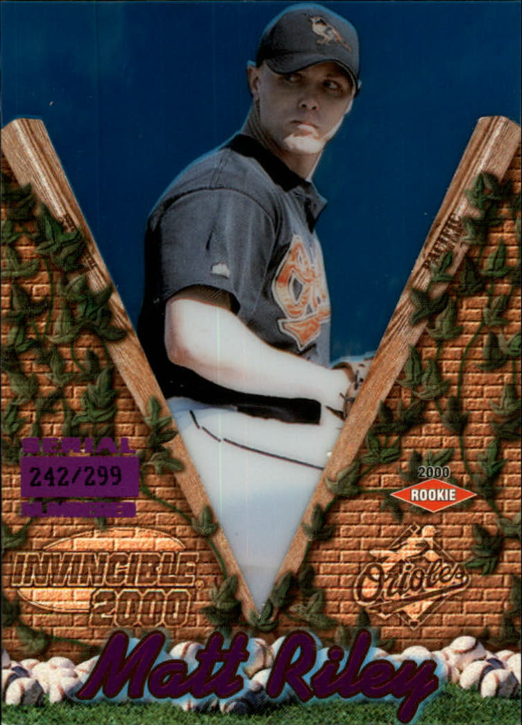 2000 Pacific Invincible Holographic Purple #20 Matt Riley