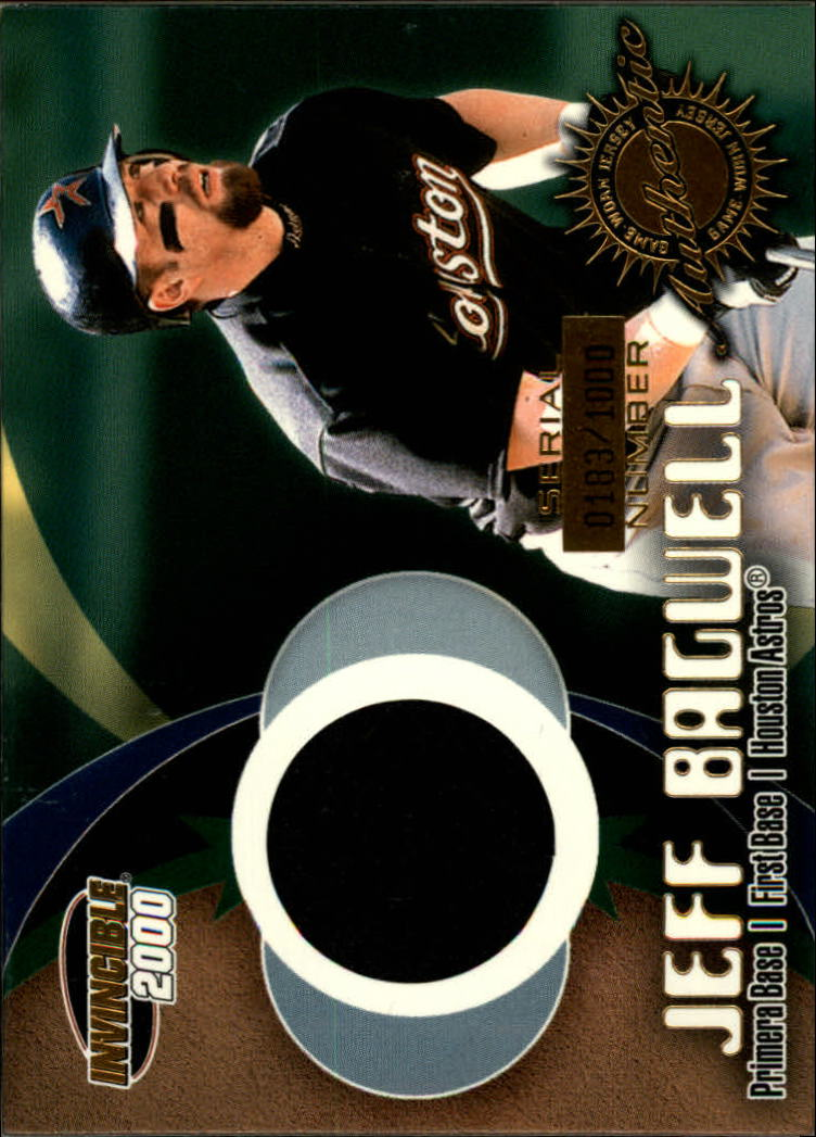 2000 Pacific Invincible Game Gear #1 J.Bagwell Jsy/1000