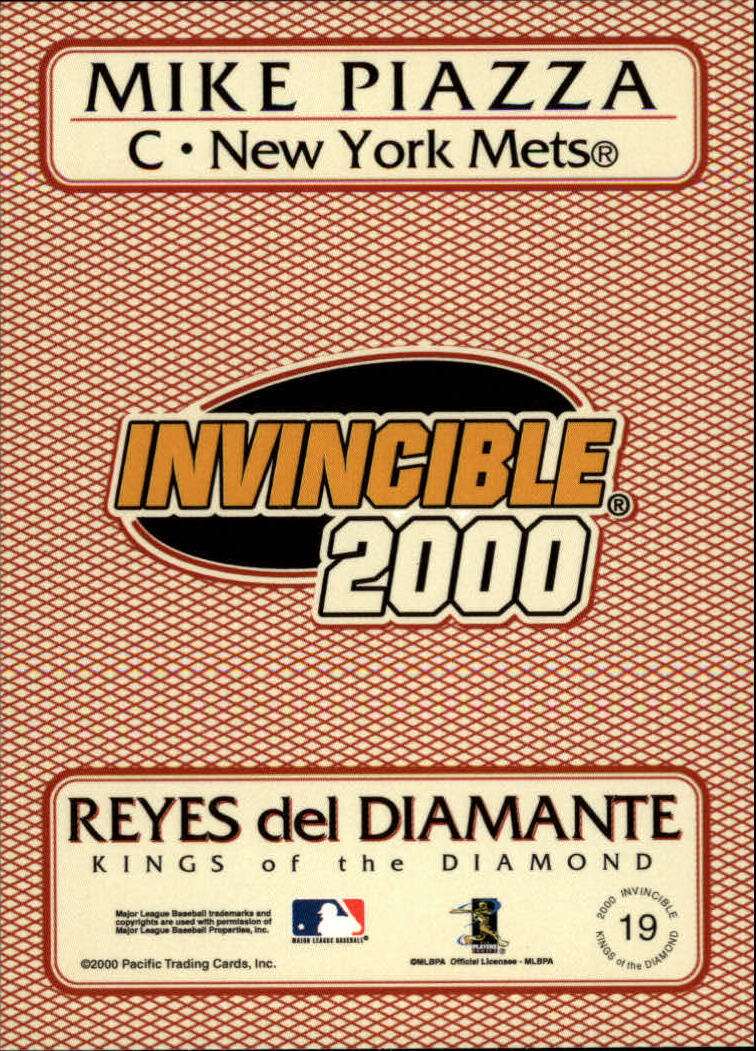2000 Pacific Invincible Kings of the Diamond #19 Mike Piazza back image