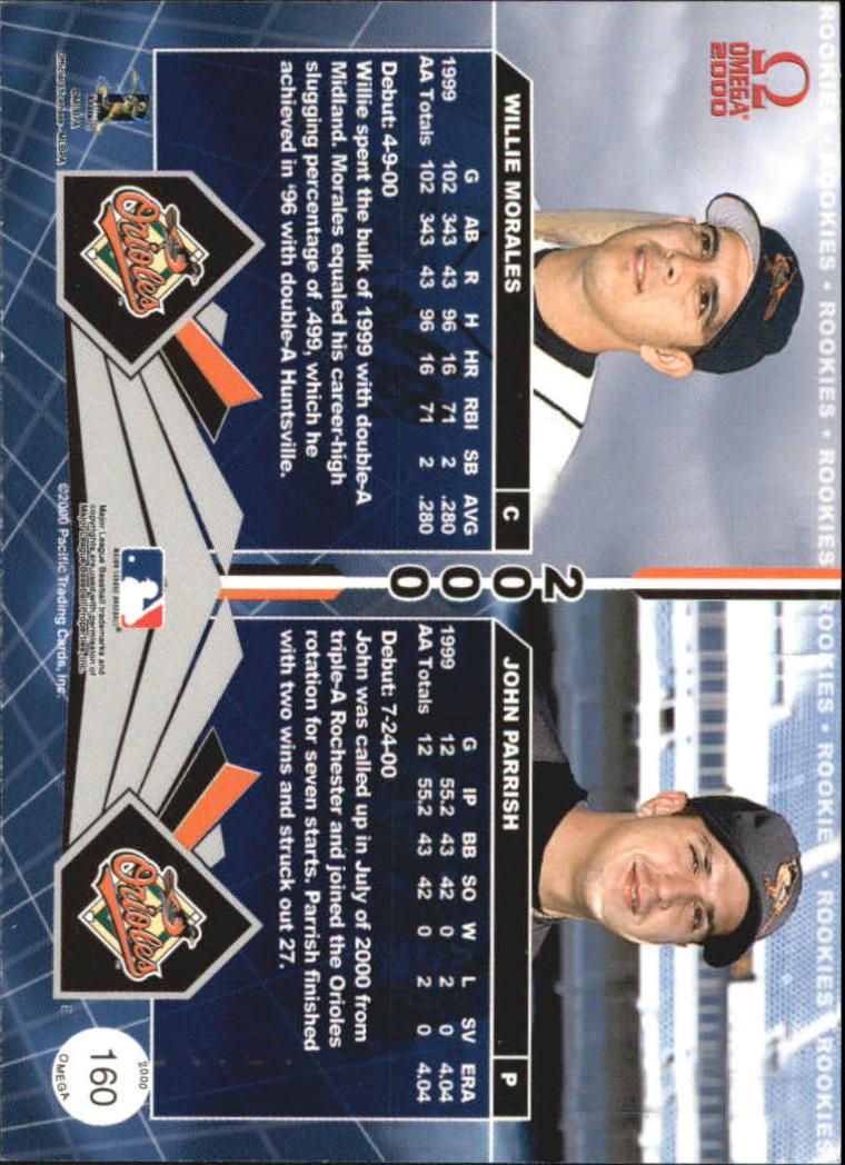 2000 Pacific Omega #160 W.Morales/J.Parrish RC back image