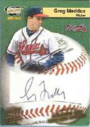 2000 Revolution MLB Game Ball Signatures #2 Greg Maddux
