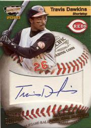2000 Revolution MLB Game Ball Signatures #6 Travis Dawkins