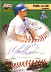 2000 Revolution MLB Game Ball Signatures #12 Mark Quinn