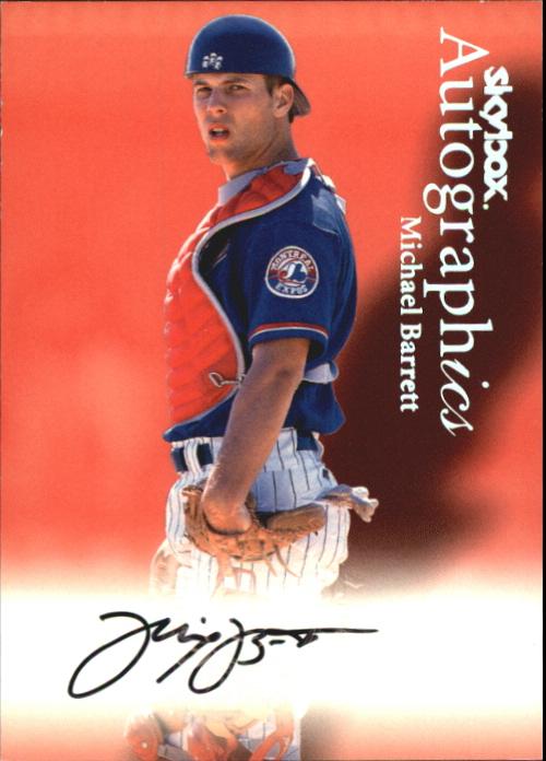 2000 SkyBox Autographics #7 Michael Barrett