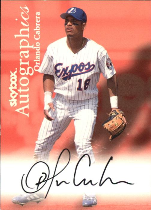 2000 SkyBox Autographics #21 Orlando Cabrera
