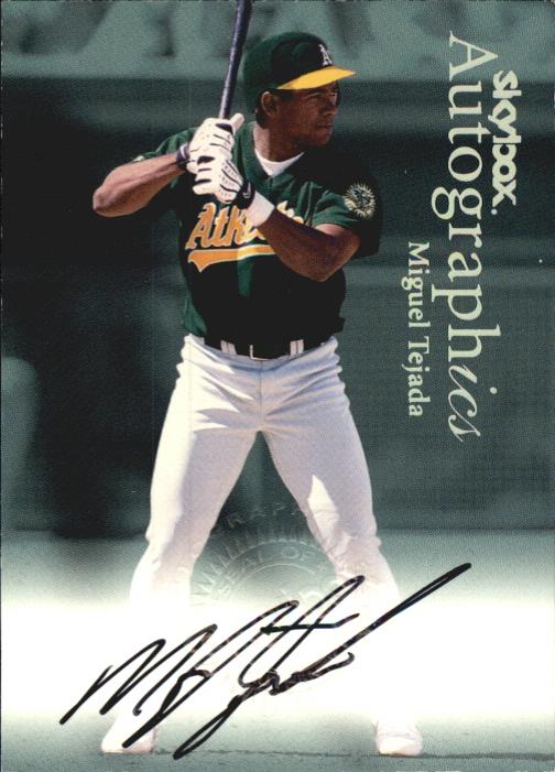 2000 SkyBox Autographics #120 Miguel Tejada
