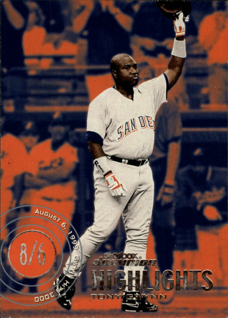 2000 SkyBox Dominion #19 Tony Gwynn HL