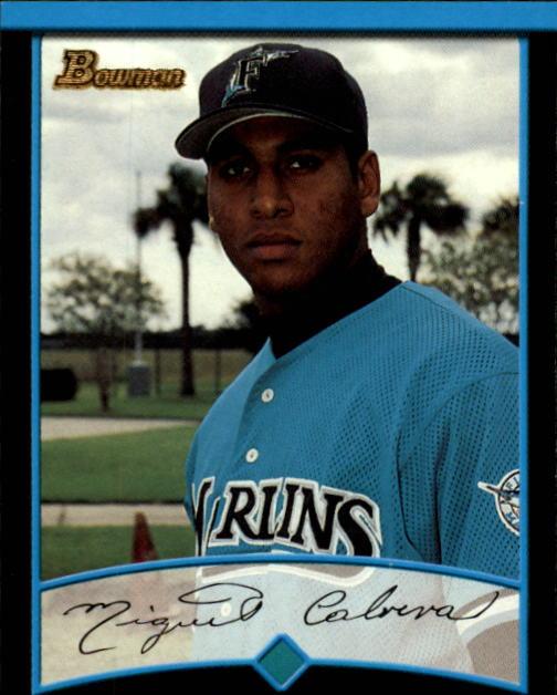 2001 Bowman #299 Miguel Cabrera UER/Denny Bautista pictured