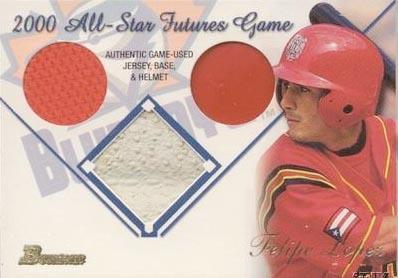 2001 Bowman Multiple Game Relics #MGRFL Felipe Lopez A