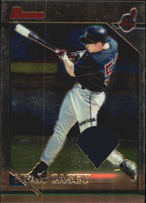 2001 Bowman Chrome Rookie Reprints Relics #3 Sean Casey Jsy