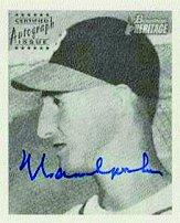 2001 Bowman Heritage 1948 Reprints Autographs #1 Warren Spahn 1