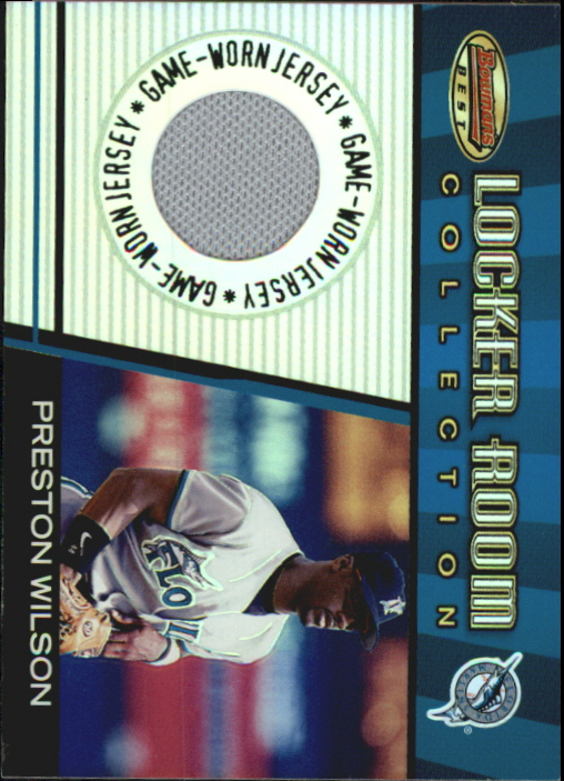 2001 Bowman's Best Locker Room Collection Jerseys #LRCJPW Preston Wilson