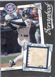 2001 Donruss Class of 2001 Scrapbook #SB22 Ichiro Suzuki Ball/75
