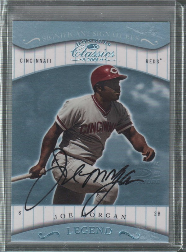 2001 Donruss Classics Significant Signatures #166 Joe Morgan