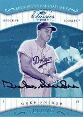 2001 Donruss Classics Significant Signatures #186 Duke Snider