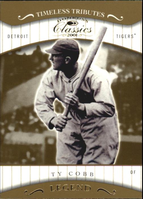 2001 Donruss Classics Timeless Tributes #177 Ty Cobb