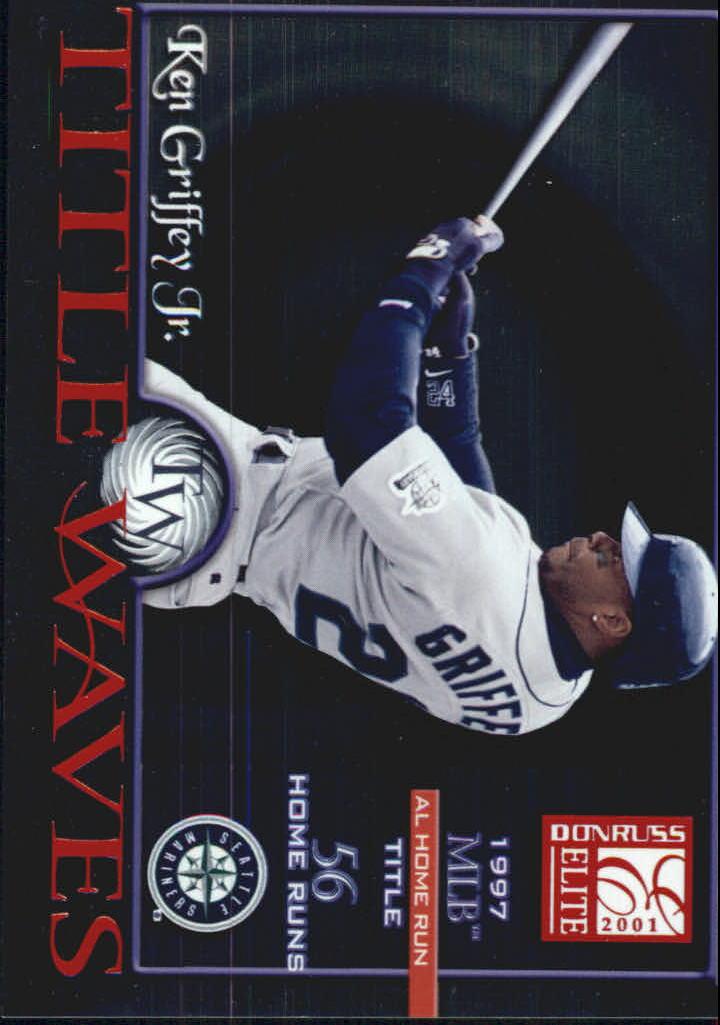 2001 Donruss Elite Title Waves #TW9 Ken Griffey Jr./1997
