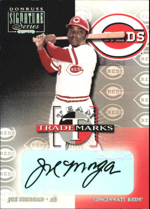 2001 Donruss Signature Team Trademarks #29 Joe Morgan/33