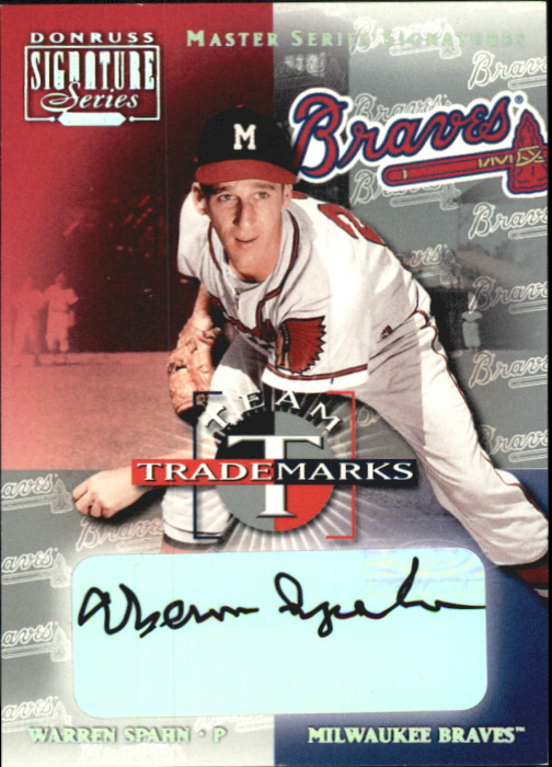 2001 Donruss Signature Team Trademarks Masters Series #56 Warren Spahn