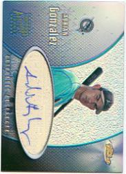2001 Finest Autographs #FAAG Adrian Gonzalez