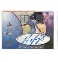 2001 Finest Autographs #FAAP Albert Pujols