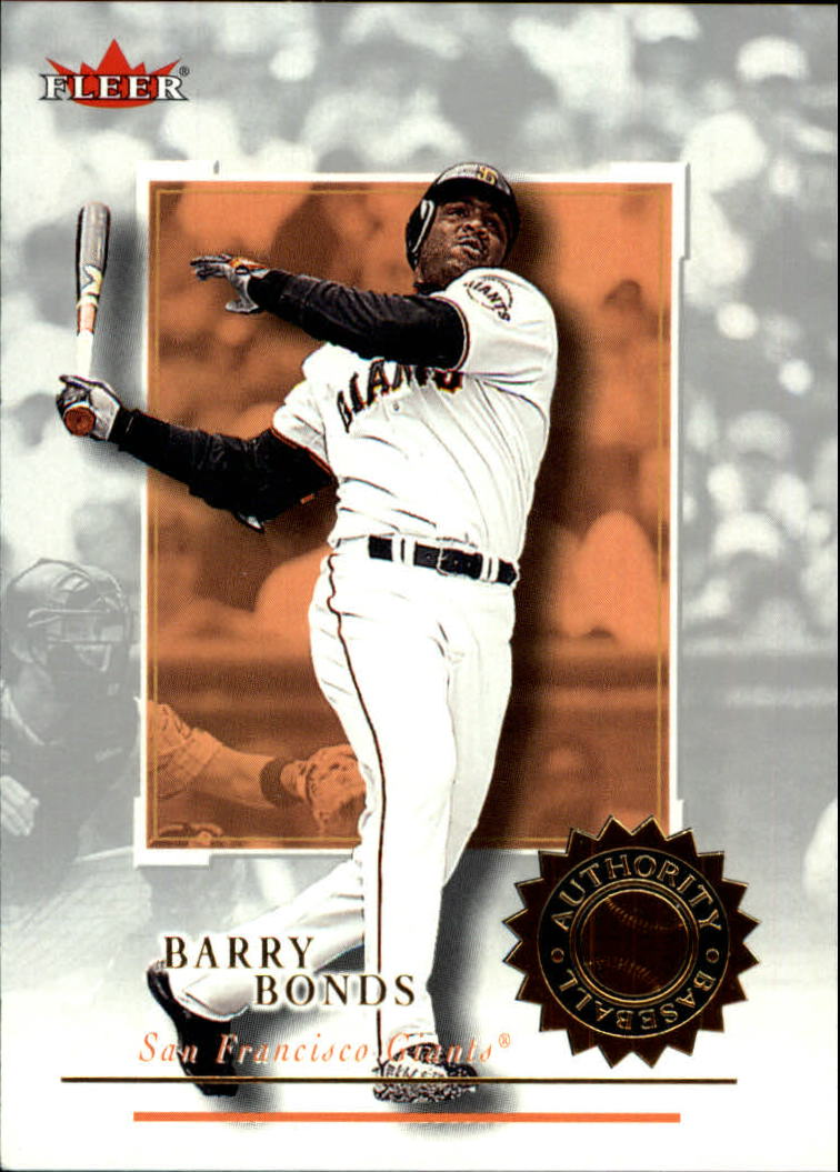 2001 Fleer Authority #80 Barry Bonds