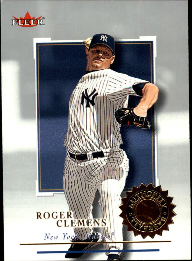 2001 Fleer Authority #97 Roger Clemens