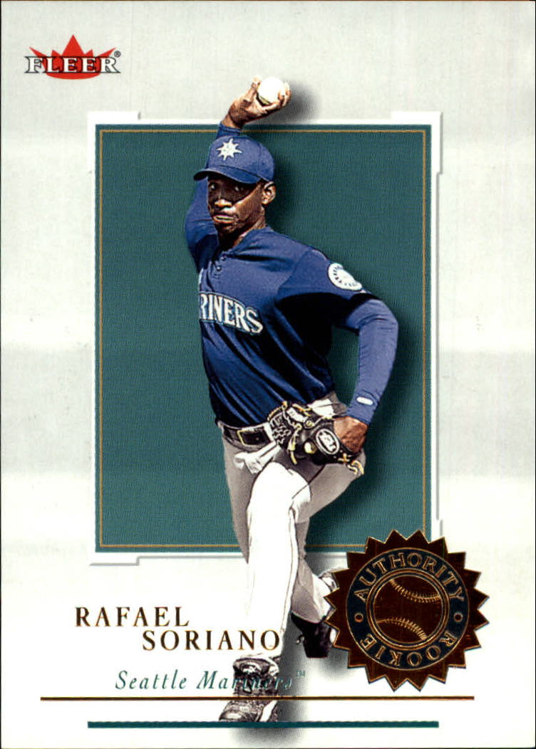 2001 Fleer Authority #120 Rafael Soriano RC