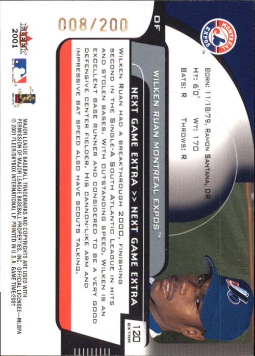 2001 Fleer Game Time Next Game Extra #120 Wilkin Ruan back image