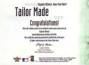 2001 Fleer Legacy Tailor Made #1 Edgardo Alfonzo back image