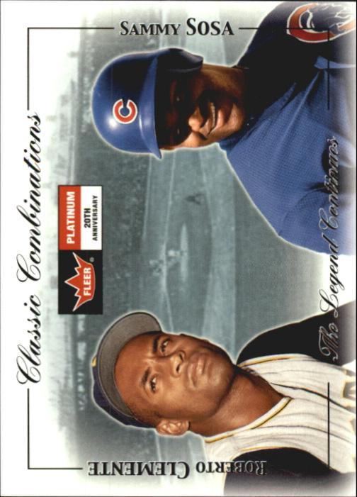 2001 Fleer Platinum Classic Combinations #23 R.Clemente/S.Sosa