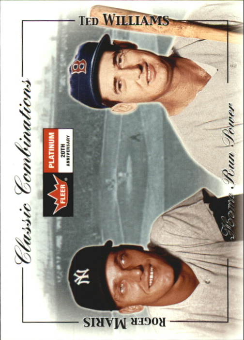 2001 Fleer Platinum Classic Combinations #28 T.Williams/R.Maris