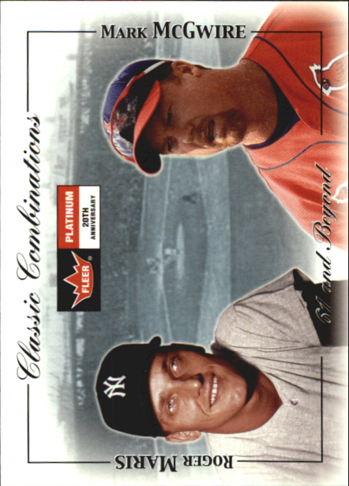 2001 Fleer Platinum Classic Combinations #36 R.Maris/M.McGwire