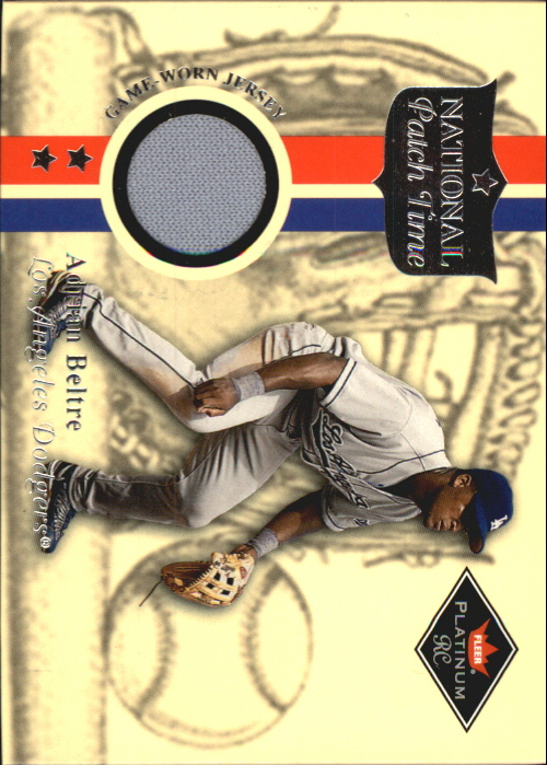 2001 Fleer Platinum National Patch Time #4 Adrian Beltre S2