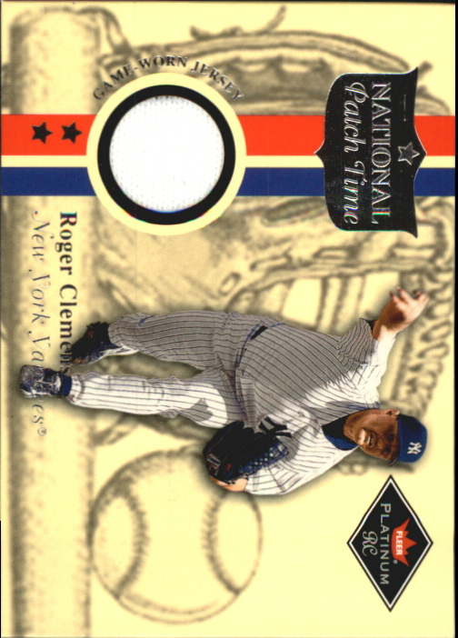 2001 Fleer Platinum National Patch Time #10 Roger Clemens Gray S1