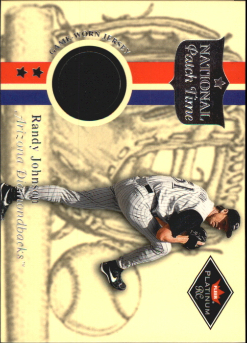 2001 Fleer Platinum National Patch Time #27 Randy Johnson S2