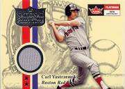 2001 Fleer Platinum National Patch Time #65 Carl Yastrzemski Mail-In SP