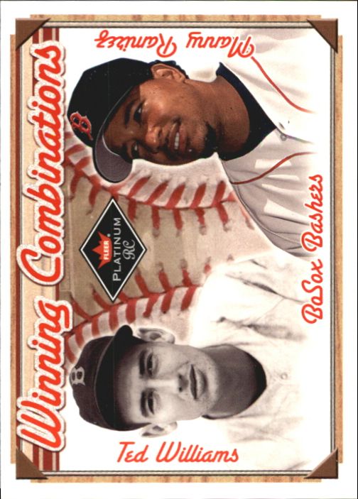 2001 Fleer Platinum Winning Combinations #4 T.Williams/M.Ramirez Sox/1000