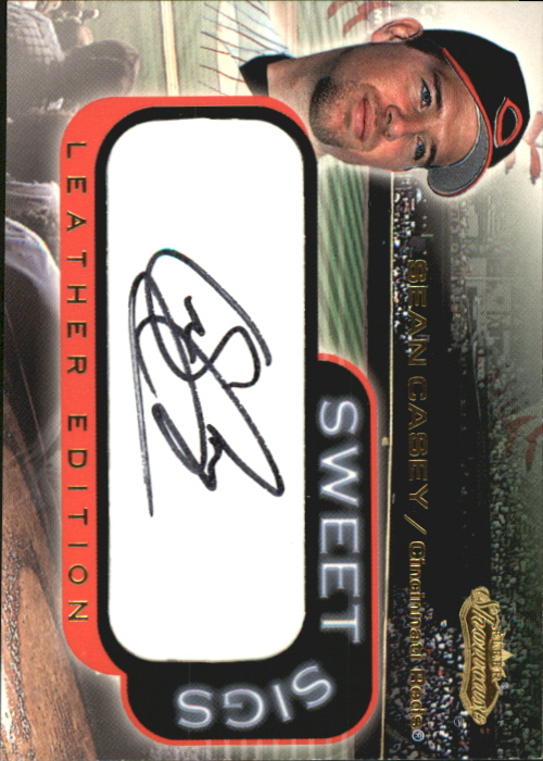 2001 Fleer Showcase Sweet Sigs Leather #5 Sean Casey SP/75