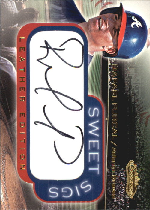 2001 Fleer Showcase Sweet Sigs Leather #7 Rafael Furcal