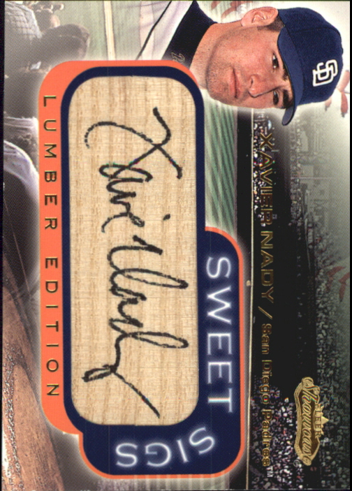 2001 Fleer Showcase Sweet Sigs Lumber #18 Xavier Nady