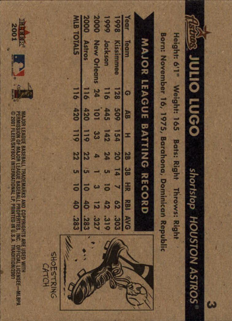 2001 Fleer Tradition Baseball #1-249 - Your Choice ...