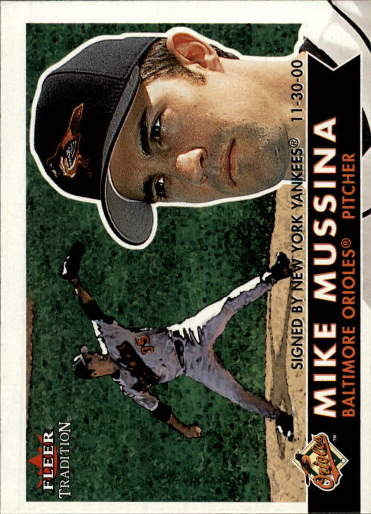 2001 Fleer Tradition #147 Mike Mussina