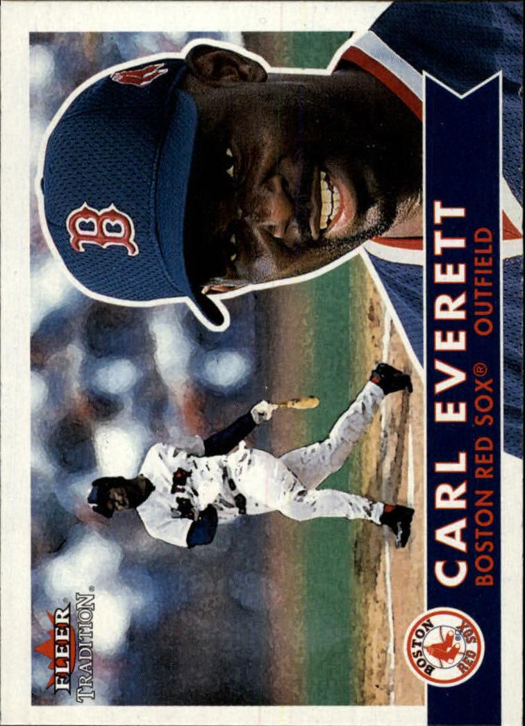 2001 Fleer Tradition #348 Carl Everett